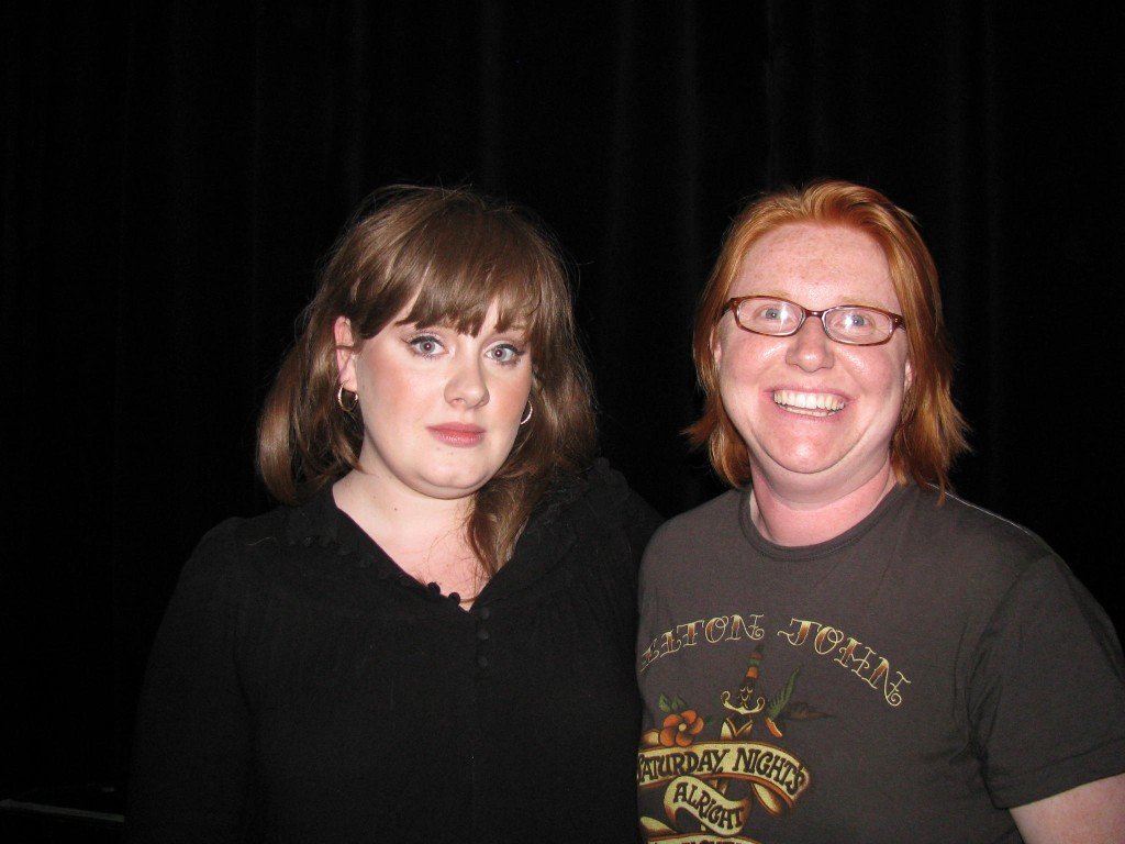 Adele with Fan at Roxy May, 2008
